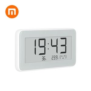 Image 1 - HOT Auf Lager Original Xiaomi Mijia MiaoMiaoCe BT 4,0 Wireless Smart Elektrische Digitale Indoor & Outdoor Hygrometer Therometer Uhr