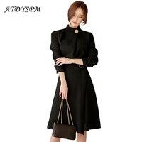 Women S Sexy Vintage Dresses 2017 New Drawstring Waist Split Bodycon Dress Vestidos Elegant Big Swing