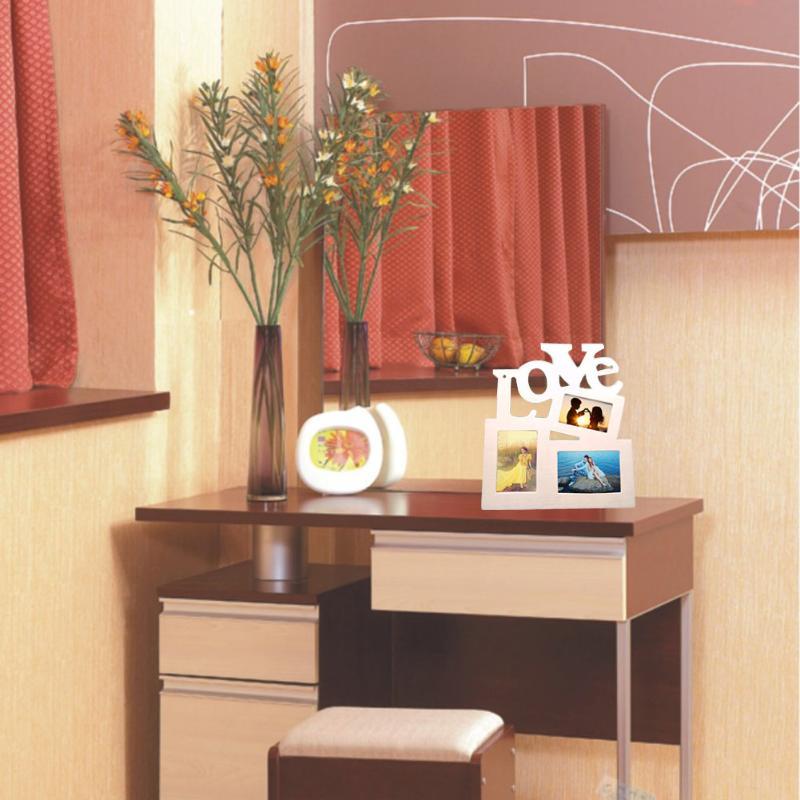 Durable Hollow Love Wooden Photo Picture Frame Rahmen Home Decor Art DIY Gift
