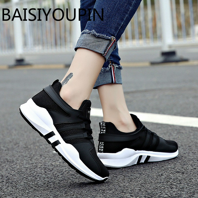 2018 New Soft Bottom Lace Up Women's Shoes Breathable Net Surface Student Sport Shoes Ladies Causal Shoes Small Wihte Shoes camel shoes ladies sweet bow sheepskin shoes elegant ladies increased within shoes soft surface a93194626