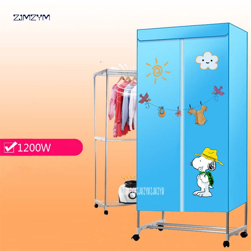 ZH900 Multifunctional portable cloth dryer household cabinet double household clothe dryer wardrobe 0-180 minutes Timing 1200W shanghai kuaiqin kq 5 multifunctional shoes dryer w deodorization sterilization drying warmth