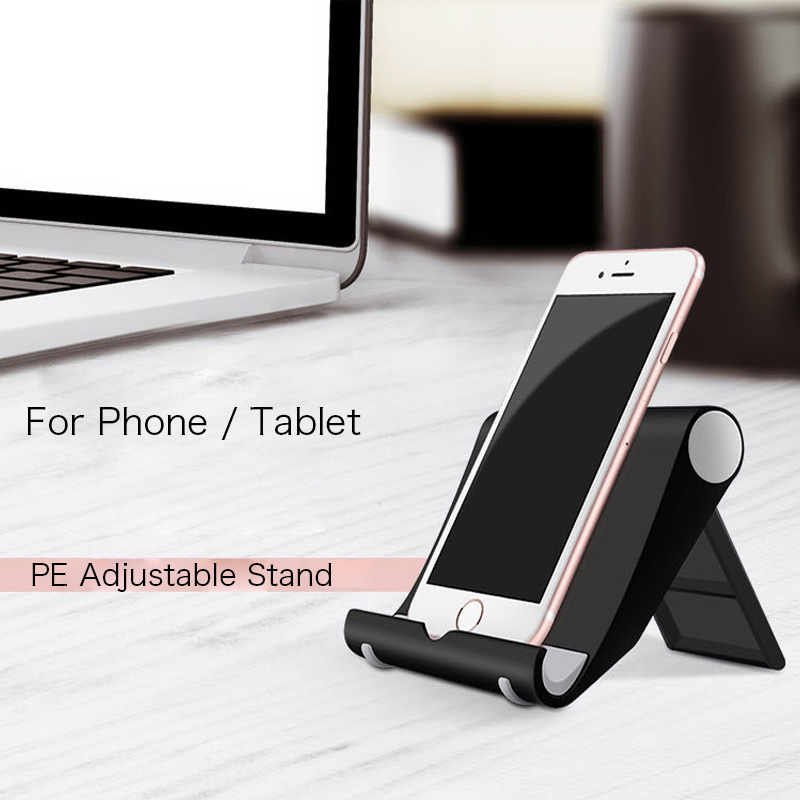 Simple Folded Phone Stand for iPhone X 7 6S Plus for Samsung S8 Plus S7 Edge Flexible Tablet Holder for iPad Air mini 3 4 Stand
