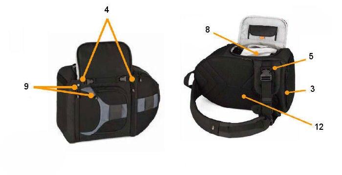 sling bolsa de ombro com capa meteorológica frete grátis