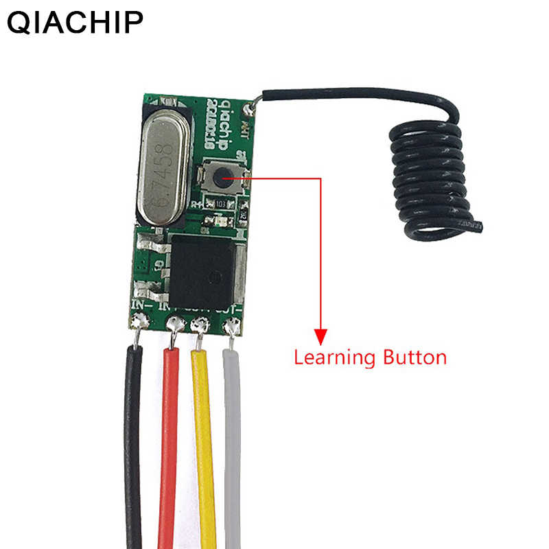 QIACHIP Universal Wireless 433 Mhz DC 3.6V-24V Remote Control Switch 433Mhz 1 CH RF Relay Receiver LED Light Controller DIY Kit