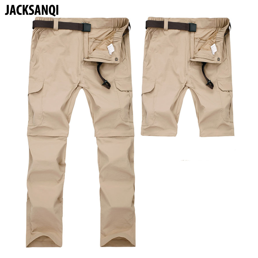JACKSANQI Men's Pant Summer Quick Dry Removable Pant Breathable Trousers Outdoor Sports Hiking Trekking Fishing Shorts 7XL RA071