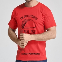 71536135 Men T shirt s Fitness Taco Funny Gym T Shirt For Short Sleeve Cotton Casual Humorous  Mexican Food Tee For Guys women