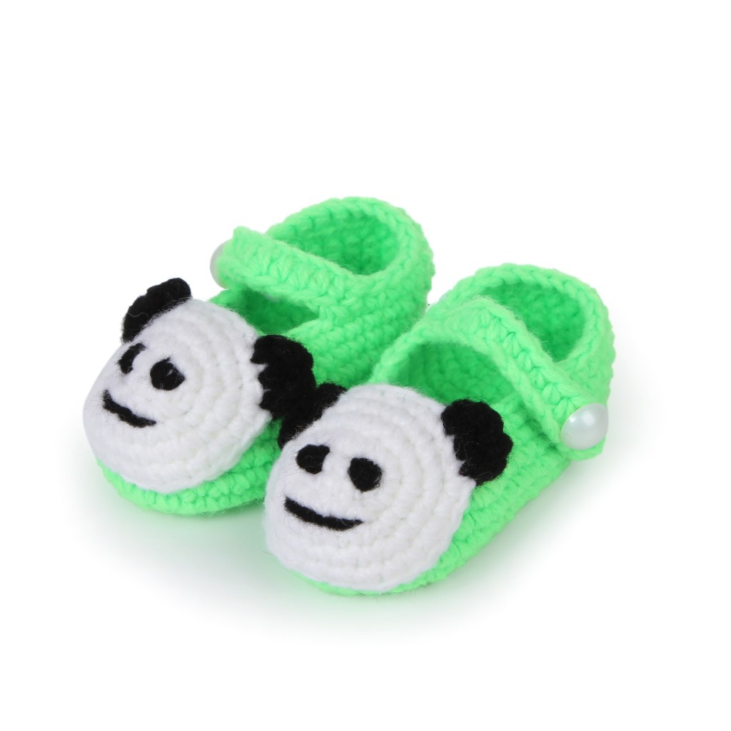 Anyongzu New Hand Woven Baby Toddler Soft Bottom Shoes Knitting Socks Boys and girls 11cm