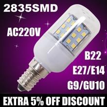 Lampada de led corn bulb 220V E27 E14 B22 G9 GU10  2835 Led Lamps Light leve bulbo Bombillas luz