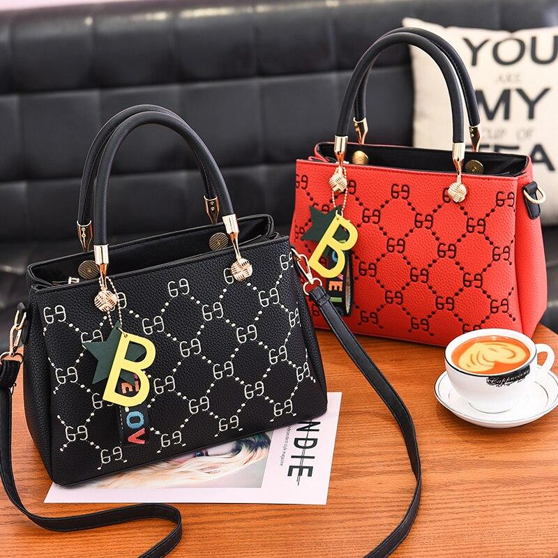 7be601636d0 US $23.45 40% OFF Women messenger handbags new spring/summer 2018 inclined  shoulder bag women's leather handbags Bag ladies hand bags 69Handbag-in ...