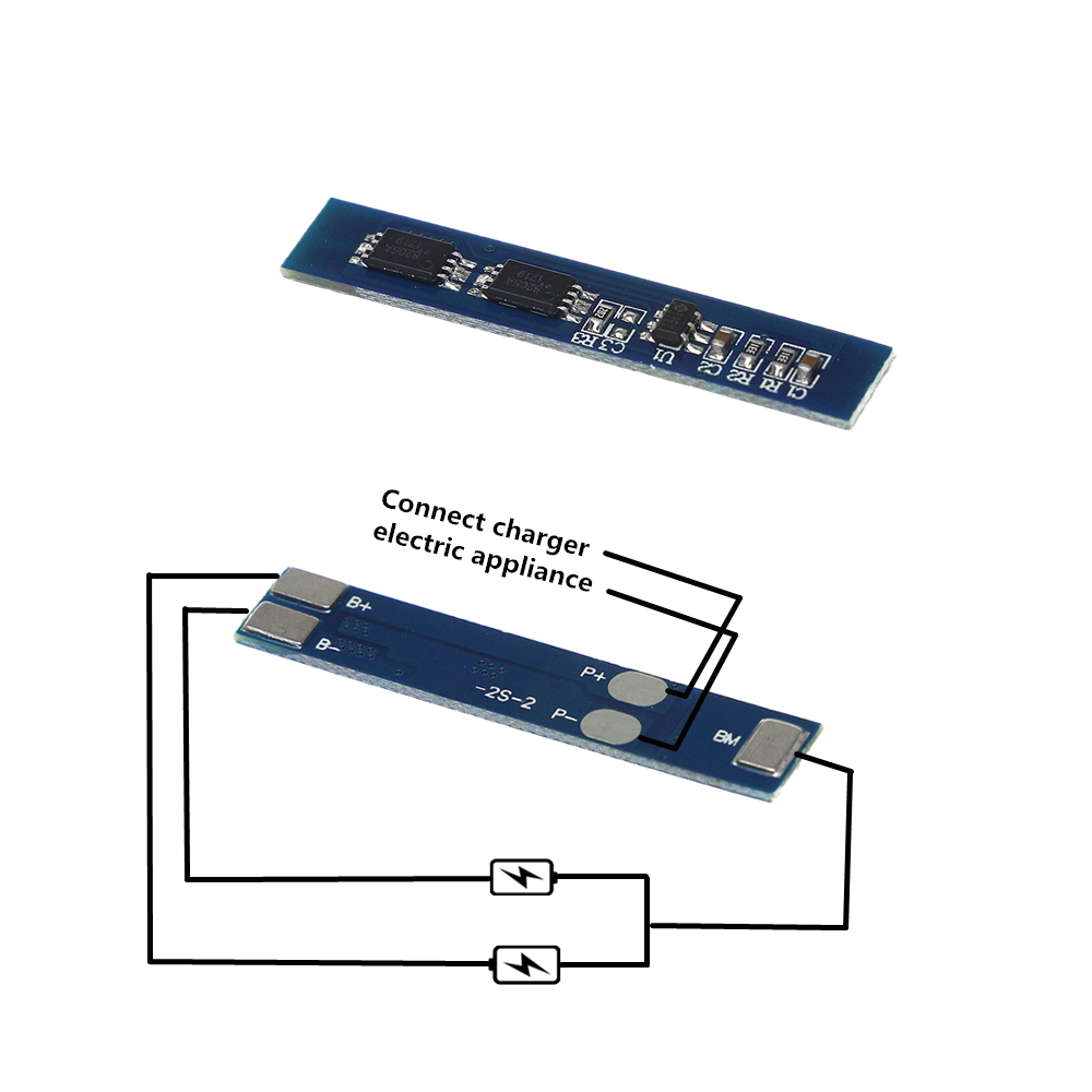 2S 3A Li-ion 7.4v 8.4V 18650  Lithium Battery  Charger Protection Board bms pcm for li-ion lipo battery cell pack2S 3A Li-ion 7.4v 8.4V 18650  Lithium Battery  Charger Protection Board bms pcm for li-ion lipo battery cell pack