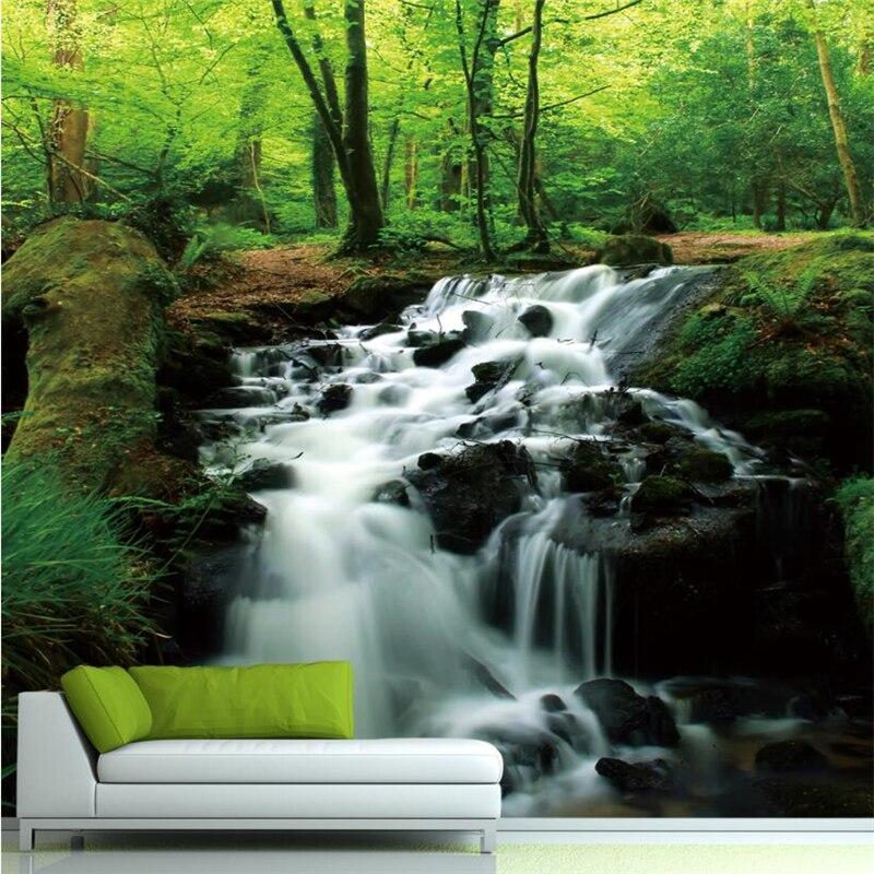 beibehang wallpaper casa decorada cascadas paisaje entrada dormitorio sala de estar tv de fondo d mural del papel