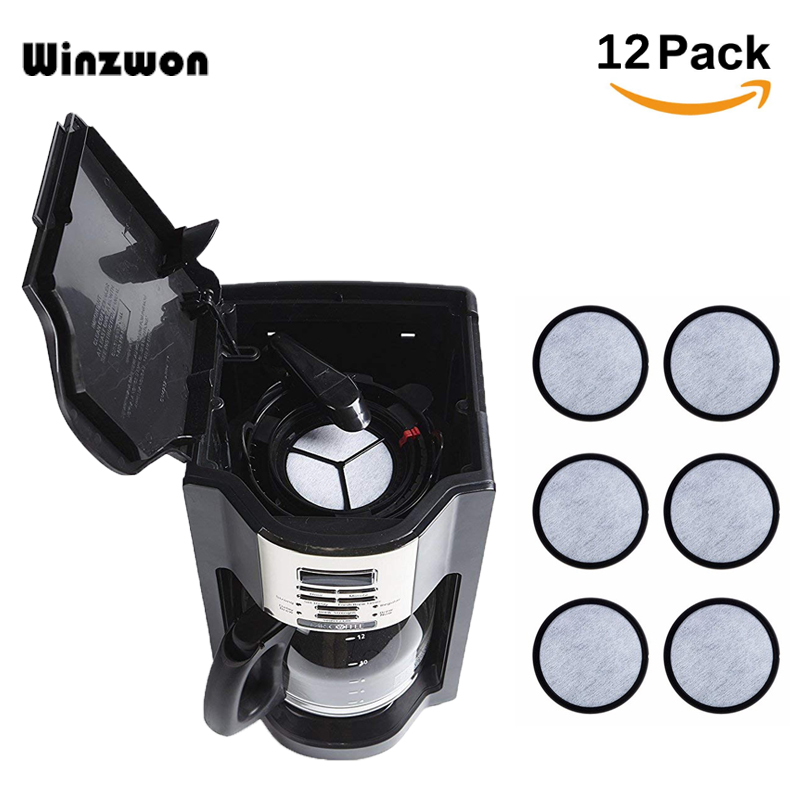 12PcsLot:  12Pcs/Lot Charcoal Water Filters Coffee Filters Replaces Active Carbon Impurities For Mr Coffee Machines Coffeeware - Martin's & Co
