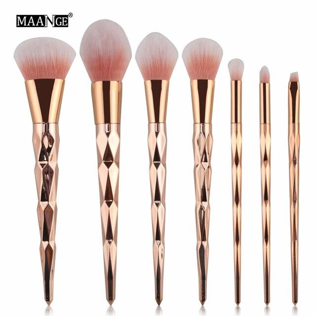 MAANGE 7/10 шт. кистей для макияжа высокого качества набор кистей для макияжа с деревянной основа тени для век Румяна смешивания косметики Красота макияжные наборы щеток