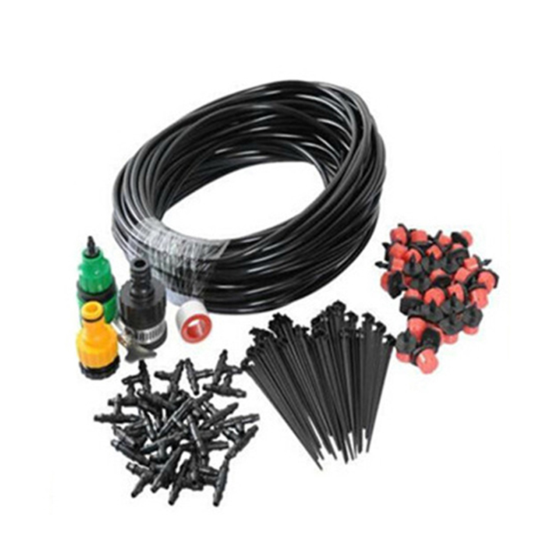 10M DIY Micro Drip Irrigation System Plant Automatic Self Watering Garden Hose Kits with Connector