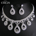 Classic Clear Rhinestone Silver Plated Wedding Jewelry Women Gifts Wholesale Fashion Crystal Bridal Jewelry Sets Free Shipping