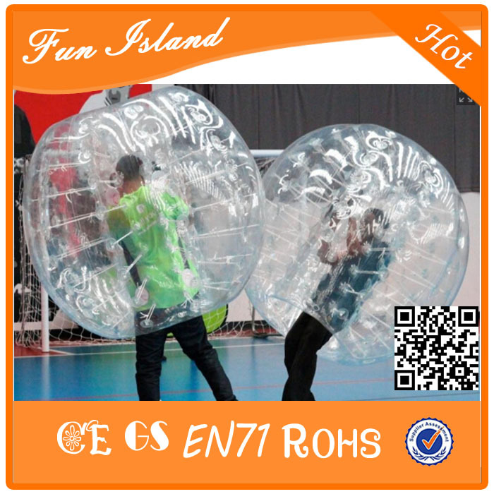 Gratis forsendelse Hot Sale 1,7m Diameter Bubble Soccer 1.0mm TPU Oppustelig Ball Suit,, TPU Bumper Ball For Aduits