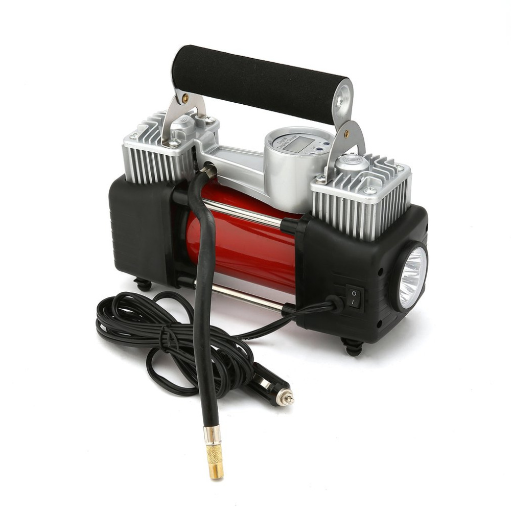 New 12V 150 PSI Emergency Heavy Duty Car Van 4x4 Tyre Air Compressor Kit Inflator Pump for Cars SUV Trucks with Dual Cylinder