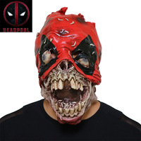 Halloween 3D Deadpool Mask Anime Movie Cosplay Props Scary Latex Zombie With Helmet Makeup Party