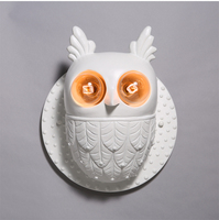 Nordic Style Wall Light Creative Personality Gypsum Wall Lights Owl Modelling Wall Lamp Studio Concept Decoration Wall Lamps