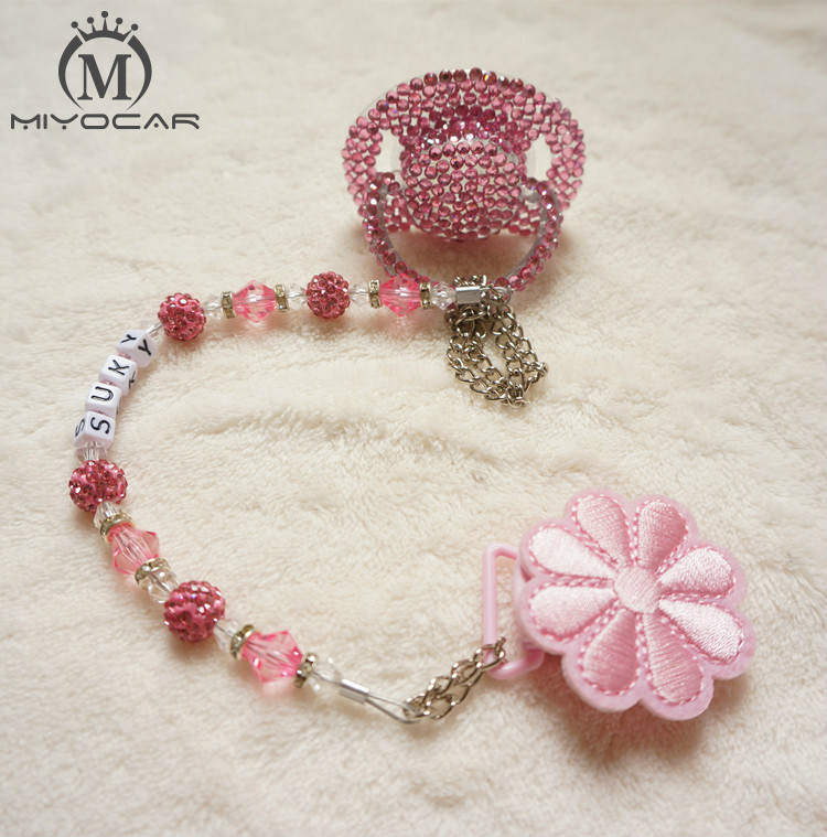MIYOCAR Special price colorful hand made bling crystal rhinestone Baby Pacifier Nipples Dummy cocka chupeta pacifier