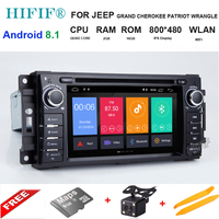 IPS 6.2 HD Android 8.1 Car Multmedia DVD Player Radio For Chrysler 300C jeep Compass/Dodge/Grand Cherokee GPS Navigation stereo