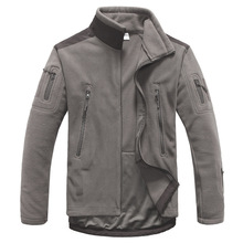 Military men Fleece tactical Jacket winter outdoor Thermal Stitch coat male Solid color breathable Mountaineering Riding outwear