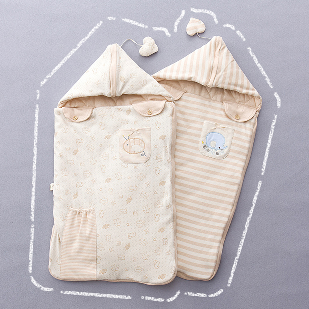 Baby Sleepsacks Colored Organic Cotton Baby Sleeping Bag Cartoon Printed Anti-Startle Envelopes For Newborn Baby Diaper Cocoon