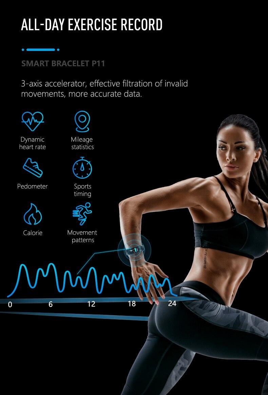 HTB1zI1gOhnaK1RjSZFBq6AW7VXam MKS Smartband Blood Pressure Smart Band Heart Rate Monitor PPG ECG Smart Bracelet Activity Fitness Tracker Electronics Wristband