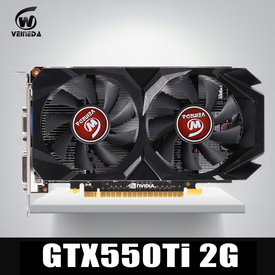 Video Card Original GTX550Ti 2GB GDDR5 128BIT 783/3400MHz Stronger than GTS450 , GT730