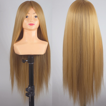 26inch Training Mannequin Head Yaki Synthetic Maniqui Hairdressing Doll Heads With Shoulder Cosmetology