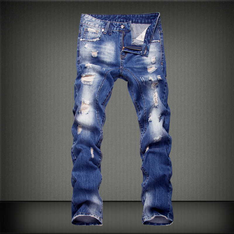 New Arrival spring summer thin jimpness denim jeans men plus size 29-40 casual men long pants trousers brand top denim jeans