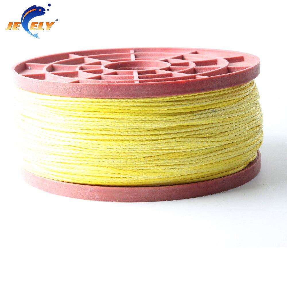 Free Shipping 1000M/PCS 1100LB uhmwpe Fiber Naked Hollow Braided Kitesurfing Rope 2MM 12 weave