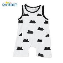 8cadaf59422f7 (سفينة من US) Lonsant الصيف أزياء طفل الفتيان الفتيات ملابس قصيرة الأكمام  الكرتون الأسد الوليد رومبير بذلة الرضع الملابس تعيين E0740