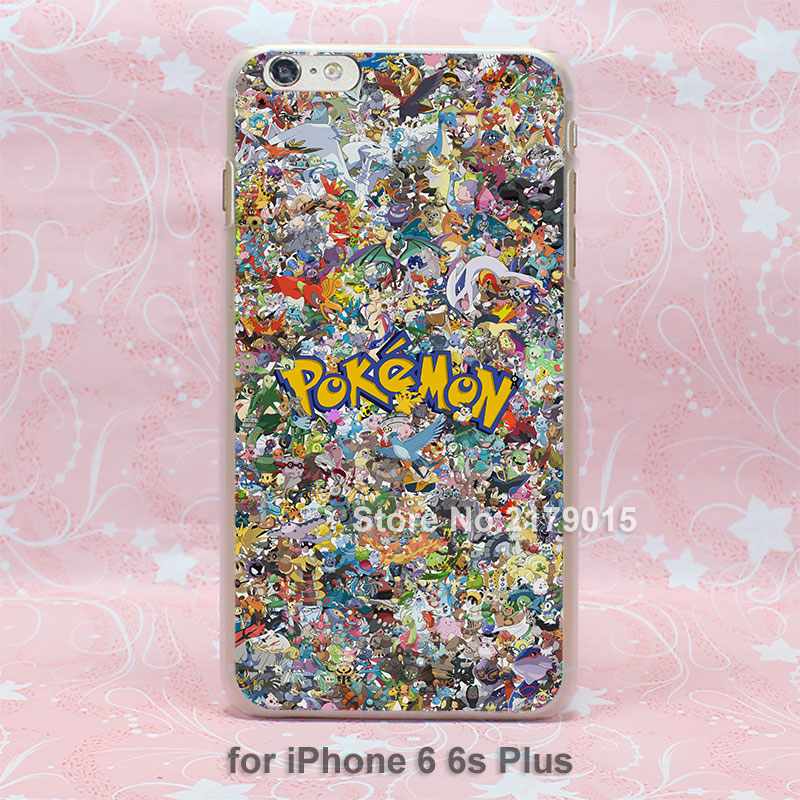 cute pokemons anime hard transparent clear Cover Case for Apple iPhone 7 6 6s Plus 5 5s 4 4s SE