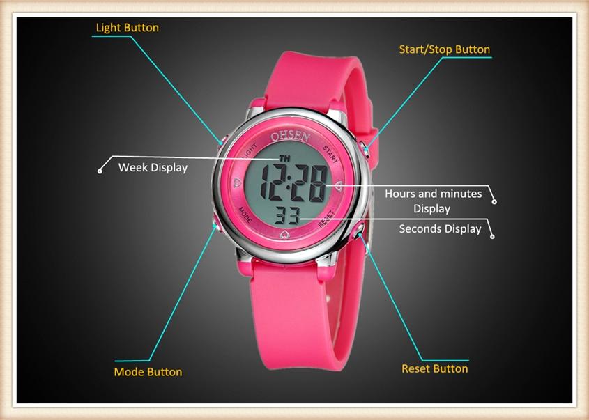 2018 OHSEN Brand Digital LCD Kids Girls Fashion Wristwatch Cute Girl Rubber Strap 50M Waterproof Child Watches Alarm Hand Clocks (18)