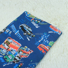 2016 Vintage city bus 100% Cotton VB Fabric Patchwork Weave Plain Fabric For DIY Handmade Bag Cloth Home Textile