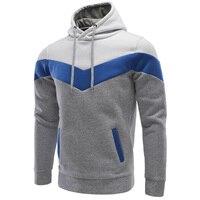 New Brand 2018 Hoodies Brand Men Stitching Sweatshirt Male Hoody Hip Hop Autumn Winter Hoodie Mens