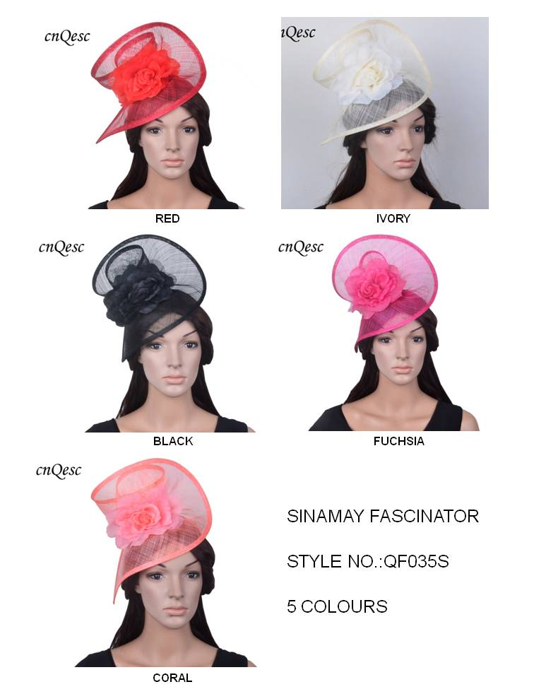 NEW COLORS Sinamay fascinator hat with silk flower for party kentucky derby ascot races melbourne cup
