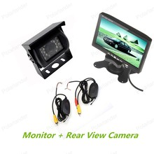 Wireless 7 Inch TFT LCD Color Display Screen Monitor + Rear View camera for bus truck parking