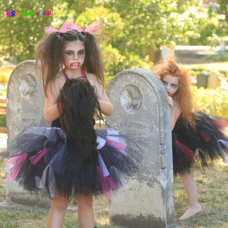 Ksummeree Zombie Tutu Dress Handmade Girls Dress For Purim -6673