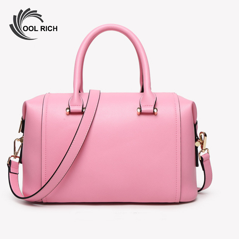 ФОТО New Fashion Brand High Quality Designer Women Boston Bag Leather Handbag Bag Women Crossbody Bag Black Ladies Tote Bags