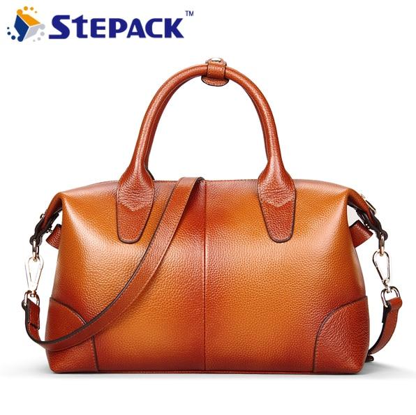 ФОТО Brand New Women Bag 2016 Genuine Leather Women Shoulder Bag Fashion LadiesMessenger Bag Large Capacity High Quality WMB0203