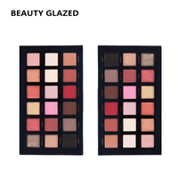 BEAUTY GLAZED Brand Makeup 18 Color Eye Shadow Long Lasting Eyeshadow 2 Piece In 1 Set