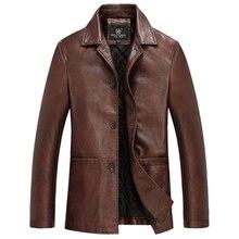 Высокое Качество Толстые Зимние Кожаные Куртки Мужчины Мужские Кожаные Куртки И Пальто Весте Cuir Homme Chaqueta Cuero Hombre Дери Ceket
