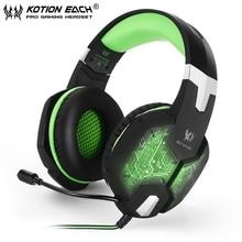 Nuevos auriculares para juegos de graves profundos G1000, estéreo envolvente, auriculares de 3,5mm + auriculares USB con luz LED de micrófono para jugadores de PC