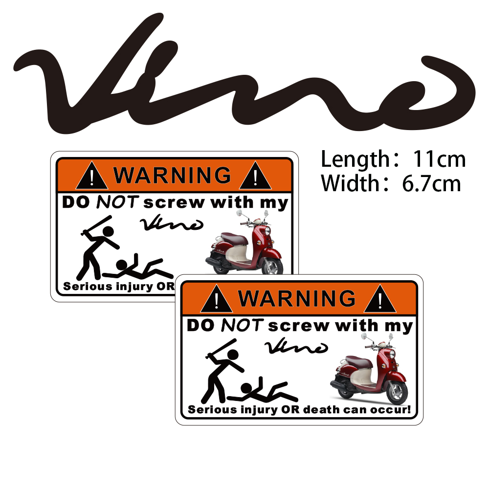 hight resolution of kodaskin 2 pieces do not screw warning sticker decal for yamaha vino 125 50
