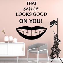 Beauty Smile Wall Mural Removable Decal Nursery Room Decor Waterproof Art Bedroom Stickers