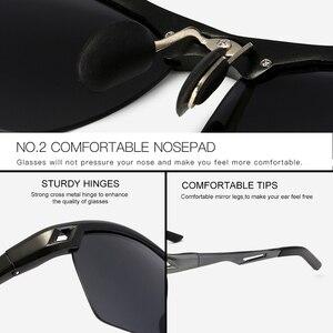 Image 4 - 2019 رجل الاستقطاب ليلة القيادة النظارات الشمسية الرجال العلامة التجارية مصمم عدسات صفراء اللون للرؤية الليلية نظارات للقيادة نظارات تقليل وهج