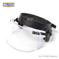 Пуленепробиваемый козырек для шлема M88 с фиксирующим кольцом из легированной стали / пуленепробиваемого козырек / пуленепробиваемая маска