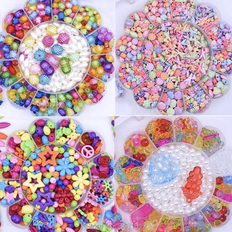 Bricolage à la main perlé filles perles ensemble perles Art artisanat tissage Bracelet bijoux usure Kit enfants jouets éducatifs pour les enfants